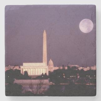 Monumento de Washington, el capitolio y Jefferson Posavasos De Piedra