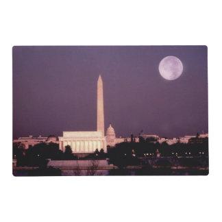 Monumento de Washington, el capitolio y Jefferson Salvamanteles