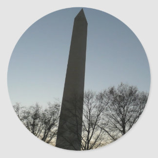 Monumento de Washington en foto del viaje del Pegatina Redonda