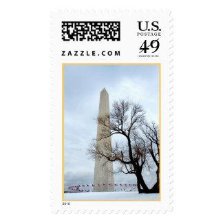 Monumento de Washington en invierno Sellos