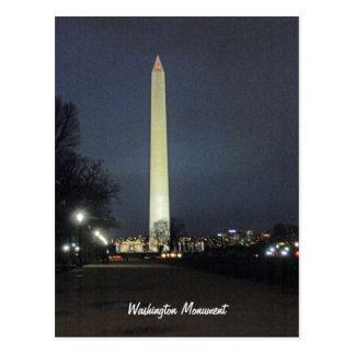 Monumento de Washington en la noche 001 Postal