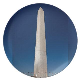 Monumento de Washington en la oscuridad Platos Para Fiestas