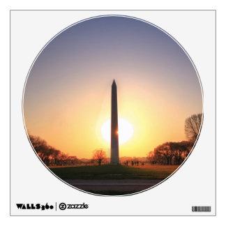 Monumento de Washington en la puesta del sol Vinilo Adhesivo