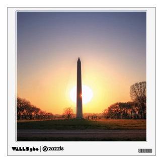 Monumento de Washington en la puesta del sol Vinilo Decorativo