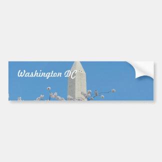 Monumento de Washington en primavera Pegatina De Parachoque