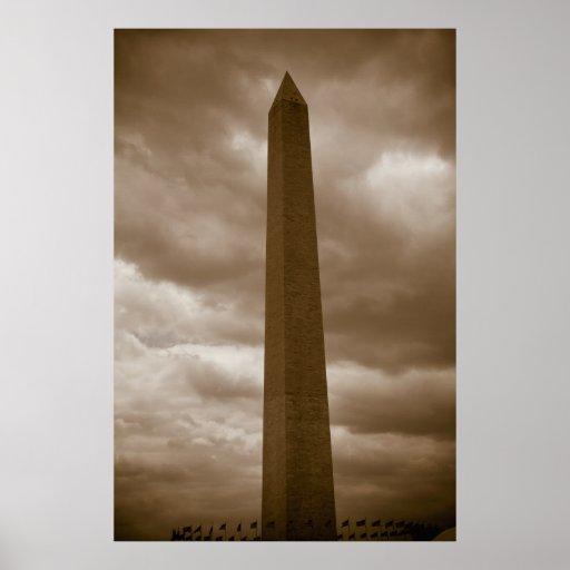 Monumento de Washington - impresión de antaño Poster