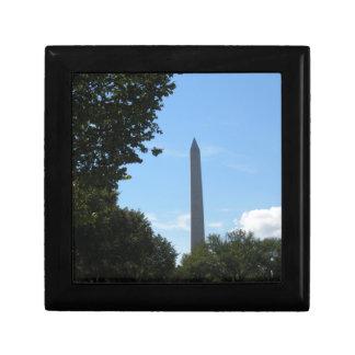 Monumento de Washington Joyero Cuadrado Pequeño