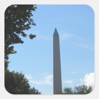 Monumento de Washington Pegatina Cuadrada