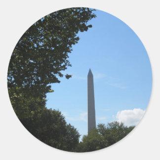 Monumento de Washington Pegatina Redonda