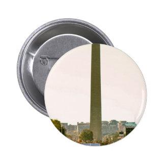 Monumento de Washington Pin Redondo De 2 Pulgadas