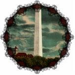 Monumento de Washington por el ornamento de la noc Esculturas Fotográficas