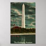 Monumento de Washington por el poster de la noche