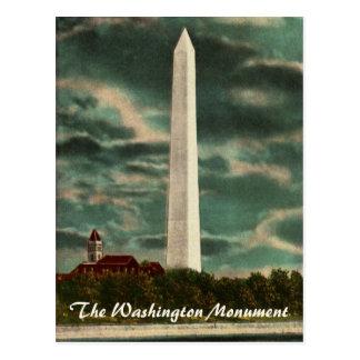 Monumento de Washington por la postal de la noche