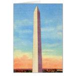 Monumento de Washington retro de la postal del kit Tarjeton