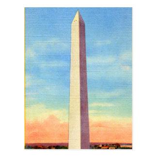 Monumento de Washington retro de la postal del