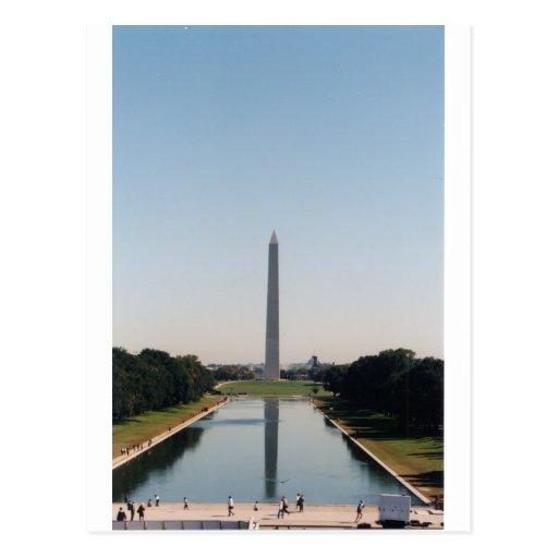 Monumento de Washington Tarjeta Postal