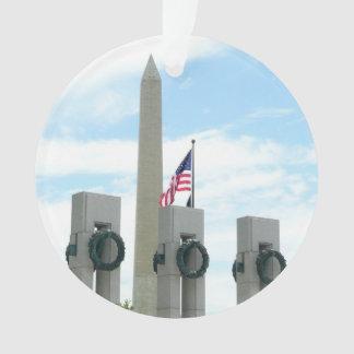 Monumento de Washington y monumento de WWII en DC