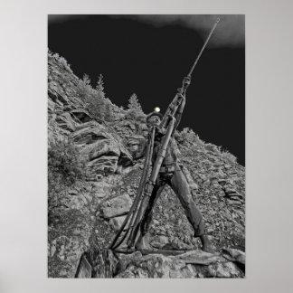 Monumento del fuego de mina de la sol - estado de  impresiones
