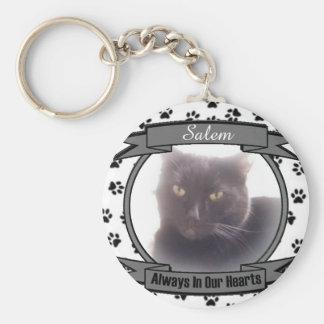 Monumento del gato siempre en nuestros corazones llavero redondo tipo pin