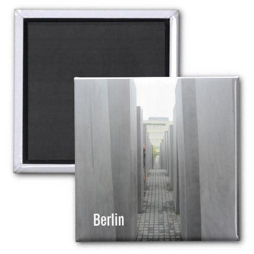Monumento del holocausto de Berlín Imán Cuadrado
