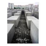 monumento del holocausto de Berlín Postal