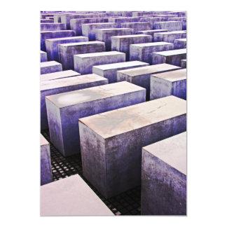 """Monumento del holocausto (Denkmal), Berlín, color Invitación 5"""" X 7"""""""