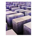 Monumento del holocausto (Denkmal), Berlín, color  Tarjetas Postales