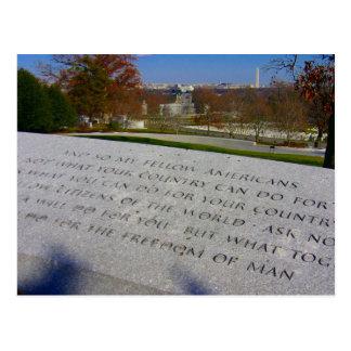 monumento del jfk de Arlington Postal