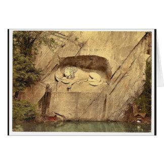 Monumento del león, vintage Photoc de Alfalfa, Sui Tarjeta