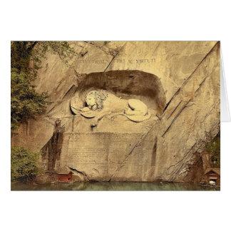 Monumento del león, vintage Photoc de Alfalfa, Sui Felicitación