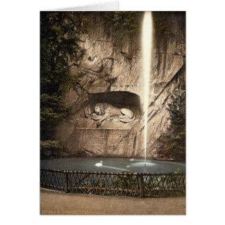 Monumento del león, y fuente, Alfalfa, Suiza Tarjetas