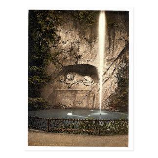 Monumento del león, y fuente, Alfalfa, Suiza Postal