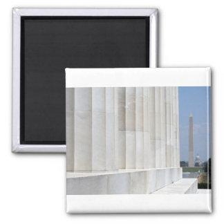 monumento del Lincoln memorial Washington Imán Cuadrado