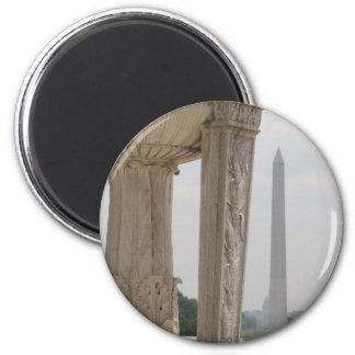 monumento del Lincoln memorial Washington Imán Redondo 5 Cm