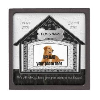 Monumento del mascota de la casa de perro caja de regalo de calidad
