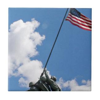 Monumento del monumento de Iwo Jima Azulejo Cuadrado Pequeño