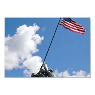 """Monumento del monumento de Iwo Jima Invitación 3.5"""" X 5"""""""