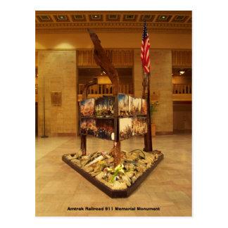 Monumento del monumento del ferrocarril 911 de tarjetas postales