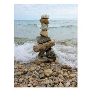 Monumento del pilar de la roca - isla de Mackinac, Tarjeta Postal