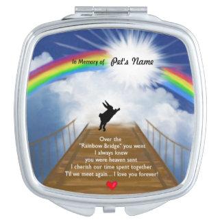 Monumento del puente del arco iris para los conejo espejo de viaje