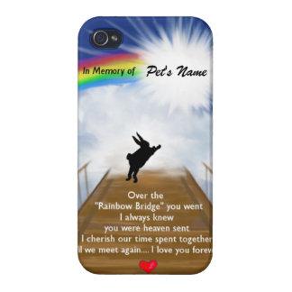 Monumento del puente del arco iris para los conejo iPhone 4 cárcasas