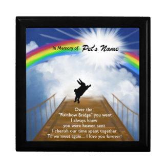 Monumento del puente del arco iris para los conejo caja de joyas