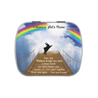 Monumento del puente del arco iris para los conejo frascos de caramelos