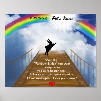 Monumento del puente del arco iris para los conejo poster