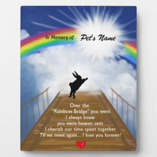 Monumento del puente del arco iris para los conejo placas de plastico