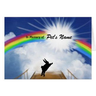Monumento del puente del arco iris para los tarjeta de felicitación