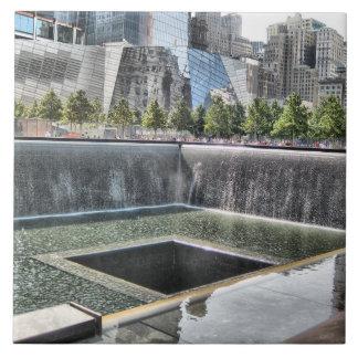 Monumento del punto cero 911 azulejo cuadrado grande