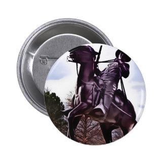 Monumento del soldado del búfalo pin redondo 5 cm
