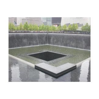 Monumento del sur del ~ 9/11 de la piscina impresión en lona estirada