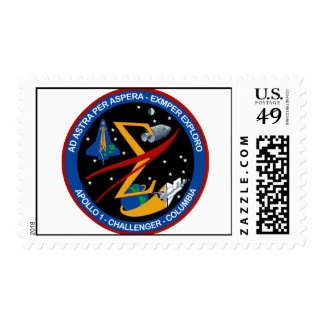 Monumento del vuelo espacial sello